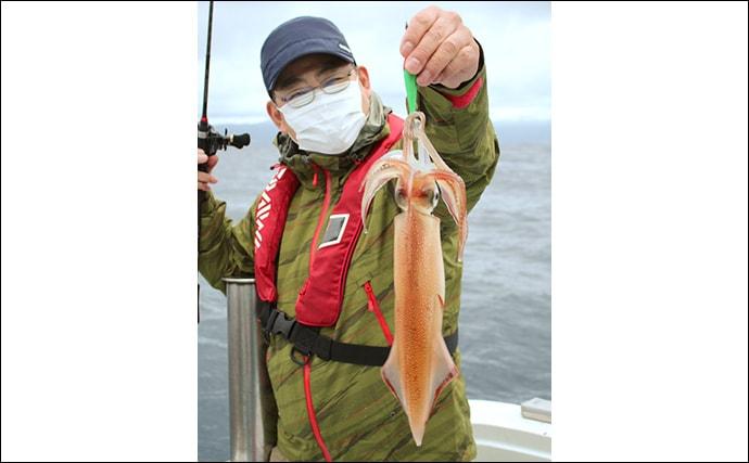 敦賀沖イカメタルで40cm超マイカ メタルラインがキモ【福井・豊漁丸】