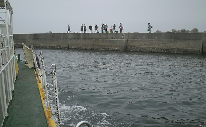 『前打ち』釣りで38cm頭にチヌ2尾 周りでは青物高活性【神戸・和田防】