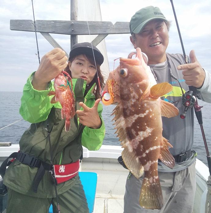 キャスティング&タイラバでマダイ連発 50cm級アコウも浮上【海幸丸】