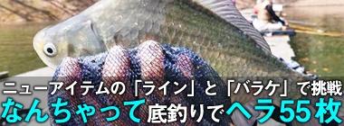 ヘラブナ釣りで本命55枚 なんちゃって底釣りが奏功?【群馬・三名湖】