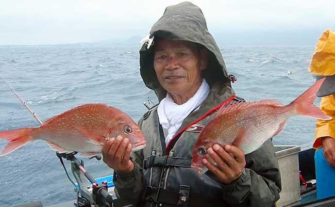 【愛知・三重・福井】沖のルアーフィッシング最新釣果 良型マダイ&青物