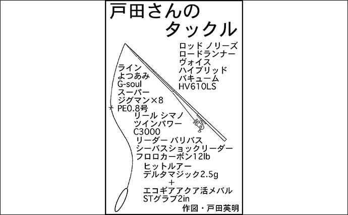 リバーシーバスゲームで55cm本命 『イナッコ』パターンで攻略【愛知】