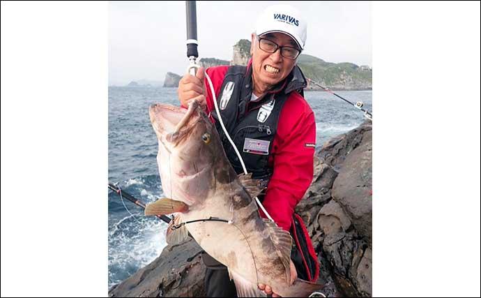 沖磯アラ釣りで110cm13kg本命浮上 エサは冷凍サバ1尾掛け【長崎】