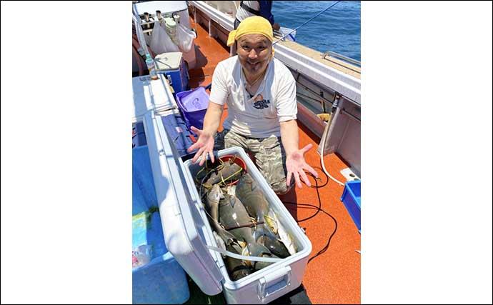 【福岡】沖のエサ釣り最新釣果 泳がせで25kg超大型アラ浮上