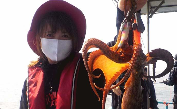 エギタコ釣りで良型マダコ全員安打 積極的な誘いにタコは弱し?【愛知】