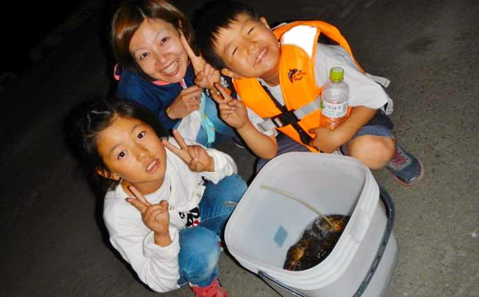 ライトゲームでカサゴ30匹越え アタリ連発に子供も笑顔【三重・霞埠頭】