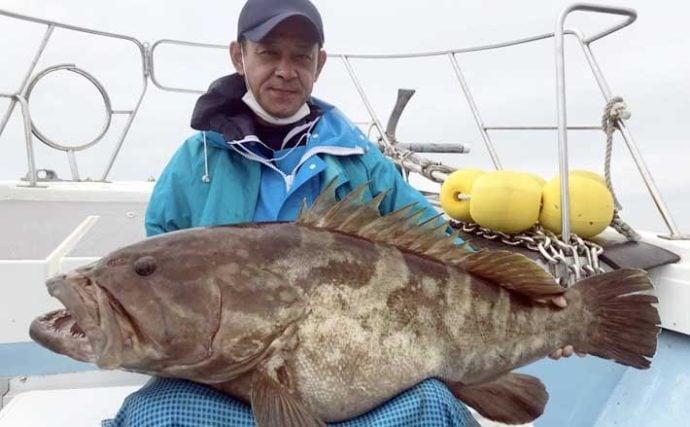 【福岡】沖のエサ釣り最新釣果 泳がせで超大型『アラ』22.5kg浮上