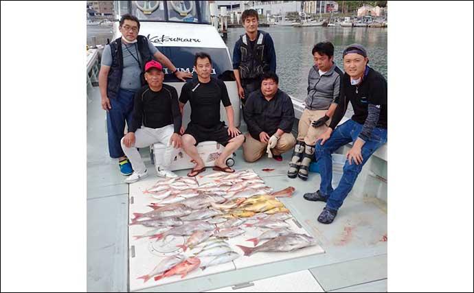 【福岡・長崎】沖のルアーフィッシング最新釣果 12kg級『夏マサ』など