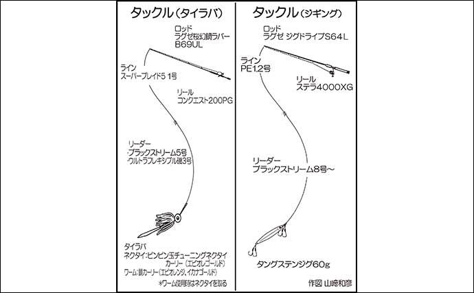 タイラバ&SLJゲームで60cm4kgタカバにヒラマサも【福岡・Trip】