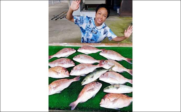 【三重】海上釣り堀最新釣果 家族でマダイ・シマアジなど高級魚続々