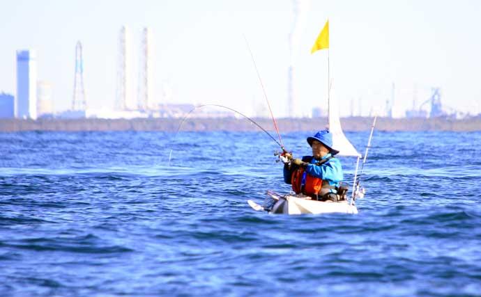 カヤックでジギング&テンヤ釣り 複数種のフグに苦戦【静岡・伊東】