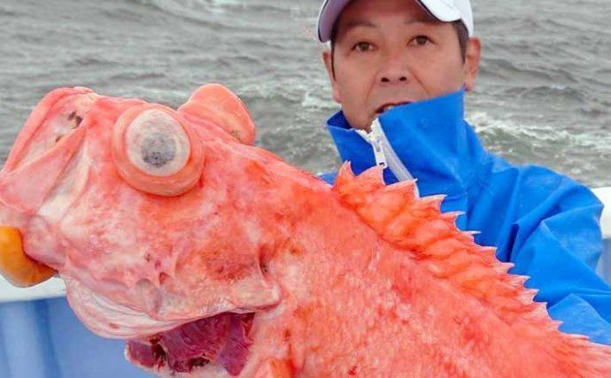 【鹿島沖2020】深海の高級魚『メヌケ』釣り入門 底ダチが釣果のカギ