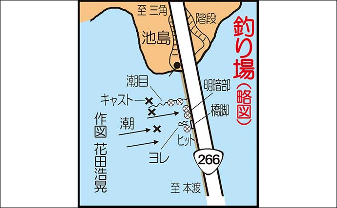 キャロ&メタルジグでの遠投アジングで良型本命連発【熊本・前島橋】
