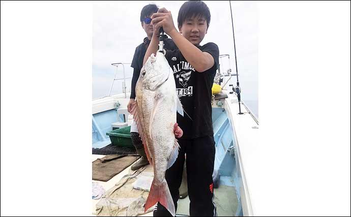【福岡】沖のエサ釣り最新釣果 タイラバ&テンヤマダイで数釣り堪能