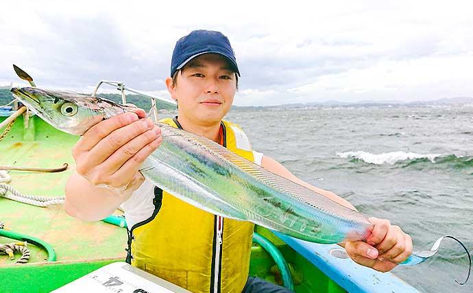 東京湾ジギングタチウオで116cm頭にトップ20尾【神奈川・太田屋】