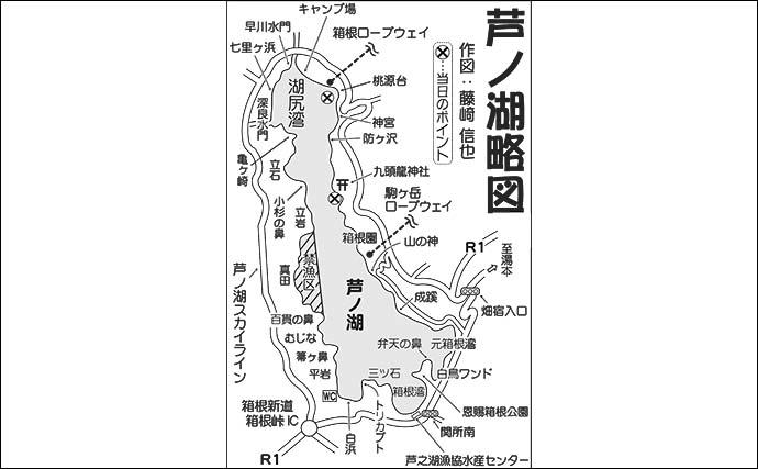ボートで『夏ワカサギ』調査 約1時間で35尾手中【神奈川・芦ノ湖】