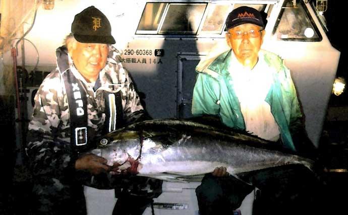 【福岡】沖のエサ釣り最新釣果 イカ泳がせで81cm6kg大ダイ浮上