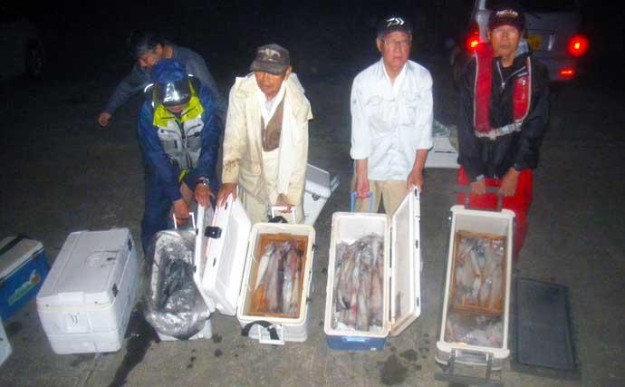 【玄界灘】夜焚きイカ釣り最新釣果 1人100尾オーバーで数釣り好機