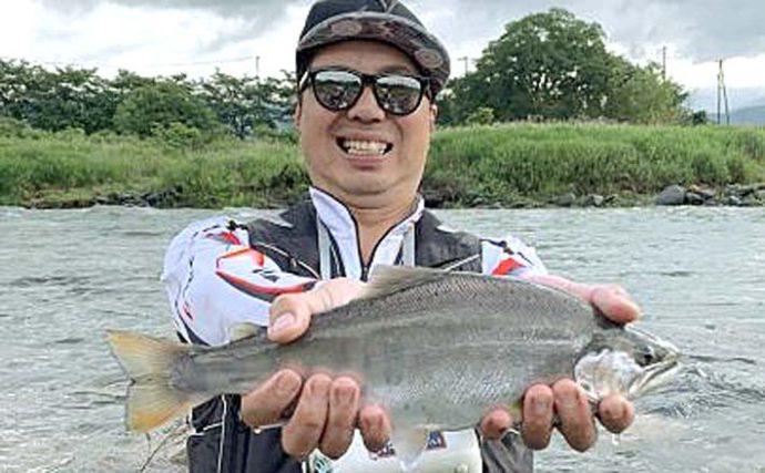 幻の魚『サツキマス』を追う 尺越えアマゴが登場【岐阜・長良川】