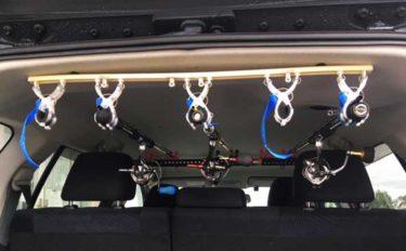 車載ロッドホルダーの自作方法 道具の大半は100均で調達可能