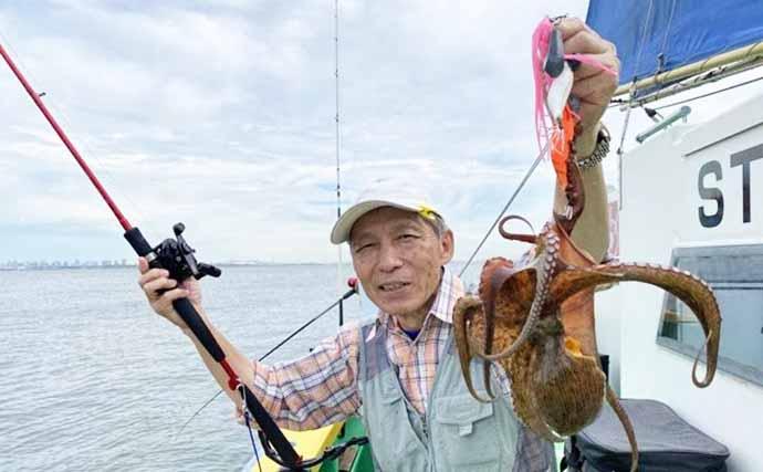 【東京湾】マダコ船で全員キャッチ連発 入門&初心者上達の好機到来