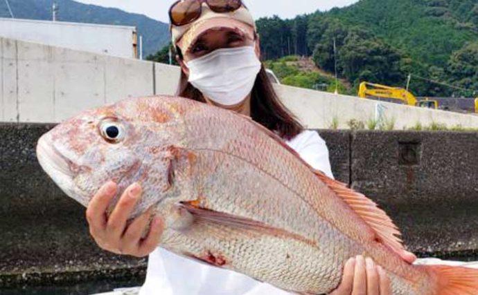 【愛知・三重】沖のルアー釣り最新釣果 タイラバ&ジギングで良型マダイ