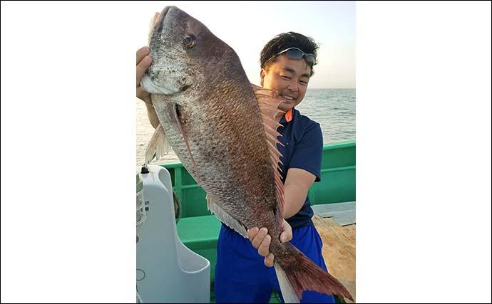 テンヤマダイで本命2.5kg 船中最大は6.8kgの大型【鹿島・長岡丸】