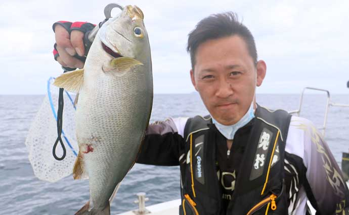SLJ&イカメタルリレー釣行で珍ゲスト『コロダイ』浮上【福岡】