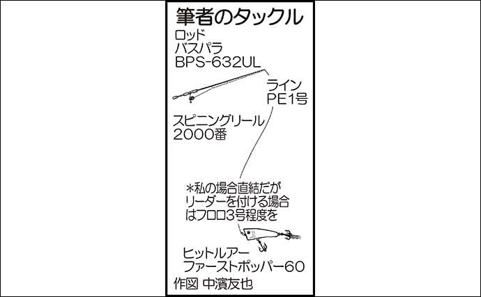 ポッパーでチヌトップゲーム堪能 本命37cm手中【鳥取・中海干拓地】