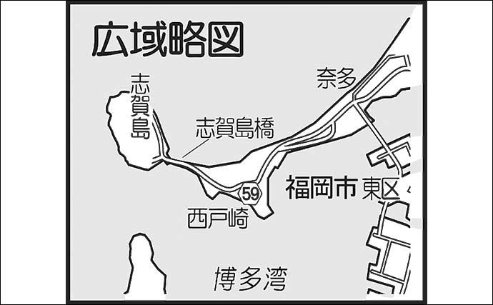メバル用ライトタックルで60cm頭シーバス連発 チヌも浮上【博多湾奥】