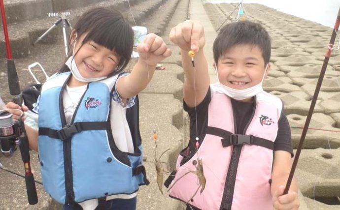 親子でテナガエビ釣り満喫 入れ食いに子供も大はしゃぎ【揖斐川】