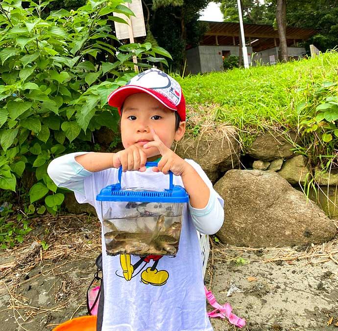 子供と一緒にハゼ釣り 1時間で25尾手中【東京・大井ふ頭中央海浜公園】