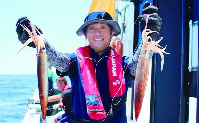 遊漁船スタッフに聞く『大山沖』スルメイカ攻略術 肝はバッテリー?