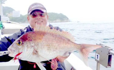 タイラバで70cm超マダイ 大物はいつもラストに?【徳島・鳴門海峡】