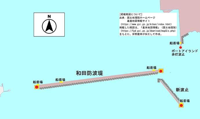 大阪湾の沖波止紹介:神戸港西エリア3つの沖堤 秋は青物&タチウオ好機