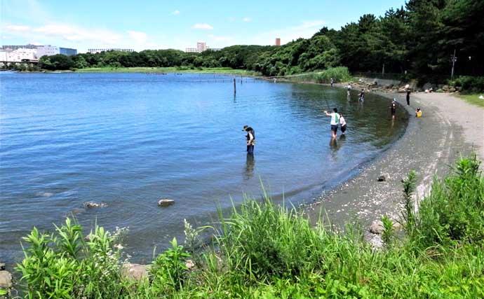 都内屈指のハゼ釣り場:大井ふ頭中央海浜公園 1時間で100尾の釣果も