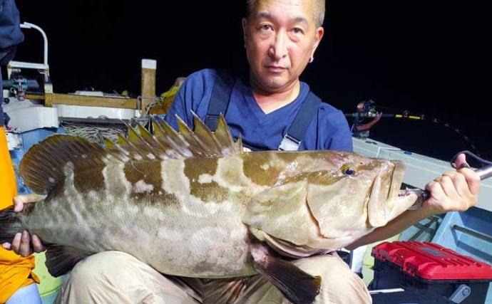 【福岡】沖釣り最新釣果 泳がせ釣りで大型アラ15kgに大ダイ80cmも