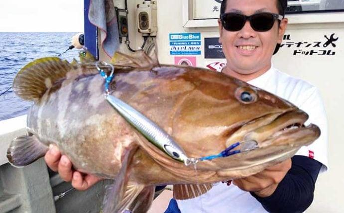 【長崎・福岡】沖のルアーフィッシング最新釣果 ジギングで良型アラ