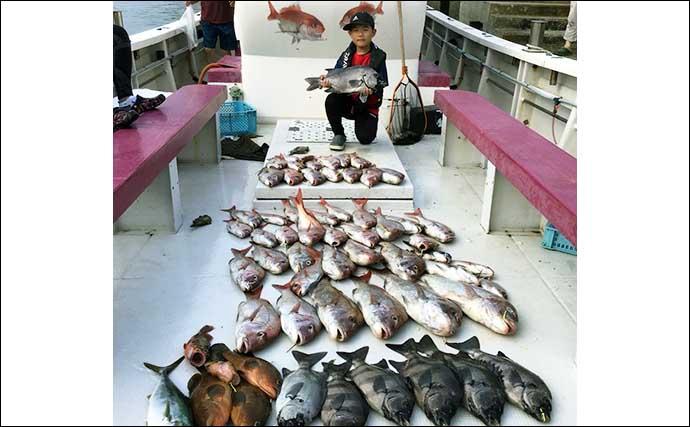 【福岡】沖のエサ釣り最新釣果 泳がせ釣りで大型アラにマダイが浮上