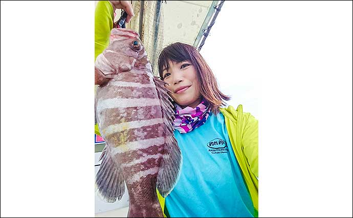 アジの『泳がせ釣り』で52cmアコウにマハタなど多彩釣果【角島沖】