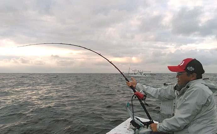 完全フカセ釣でヒラマサ12匹にマダイ3匹 来期に期待【福井・玄達瀬】