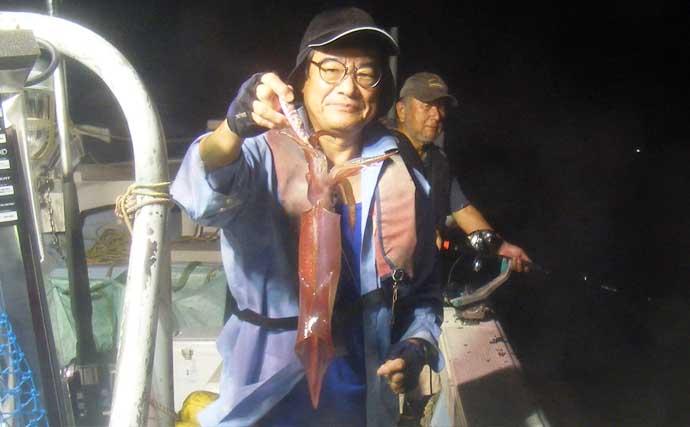 【玄界灘】夜焚きイカ最新釣果 初心者でも『パラソル級』狙える好機