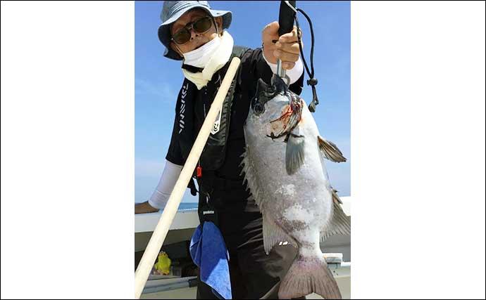 【福岡】沖のエサ釣り最新釣果 泳がせ釣りで大型アラに6kgマダイ