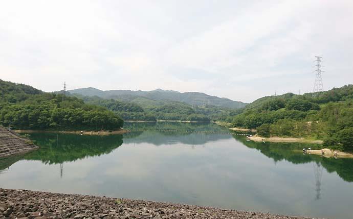 ヘラブナ釣り場グルメ:前川ダムと冷やしラーメン【山形・上山市】