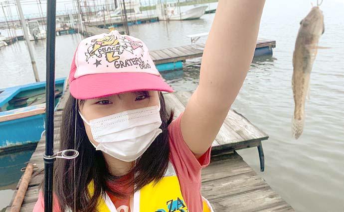 桟橋からのハゼ釣り初挑戦 子供にもヒット連発で笑顔【江戸川放水路】