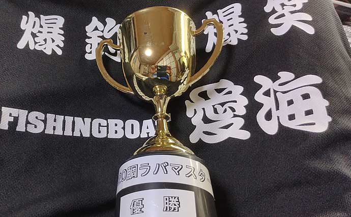 船宿主催タイラバ大会で優勝 低速巻き上げに良型ヒット【徳島・愛海】
