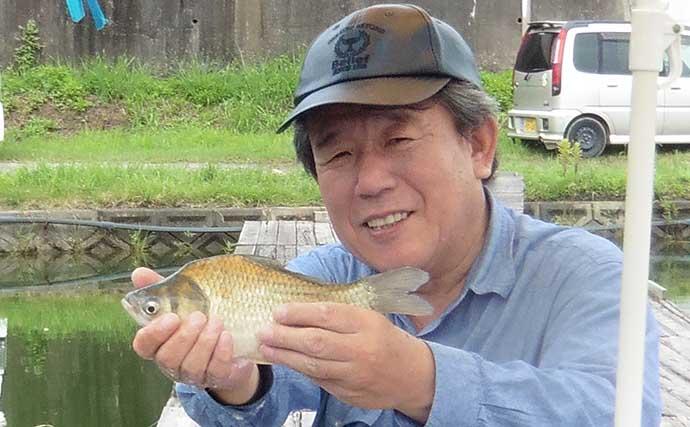 夏のヘラブナは悲喜こもごも 連発する釣友の横で苦戦【竜田川釣り池】