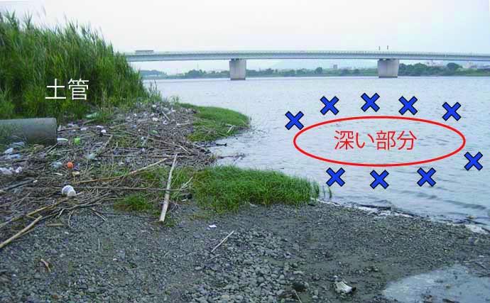 夏ハゼ好ポイント『カケアガリ』の見つけ方 実釣で21尾手中【紀ノ川】