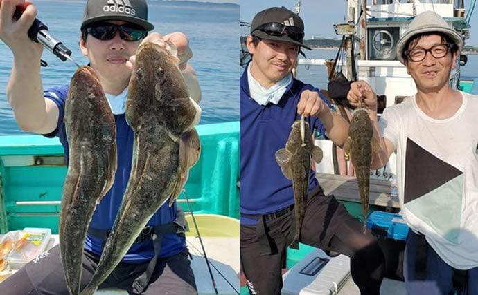 【茨城沖】沖釣り釣果速報 『照りゴチ』最盛期突入で規定数到達続出