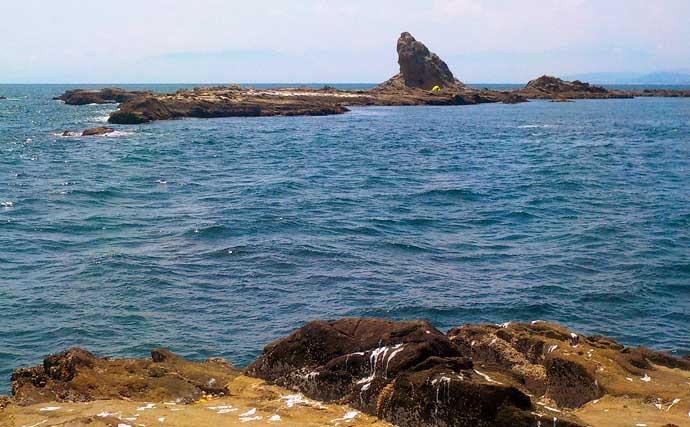 茅ヶ崎名物『エボシ岩』で底物釣り イシガキダイにカワハギ【神奈川】